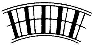 Leicht-Alu-Rollenbahn-Kurve, 300mm breit, 75er Teilung