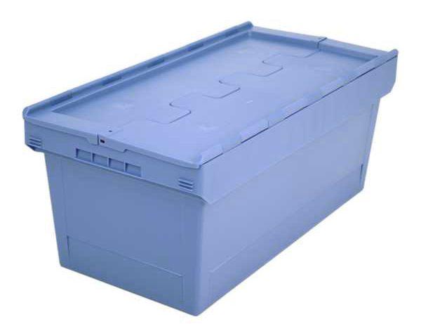 Mehrweg-Stapelbehälter 76 L, mit Klappdeckel, 810x400x340mm
