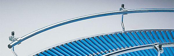 Stahl-Kurvenführungen 45°, einseitig, außen, Ø 25 mm