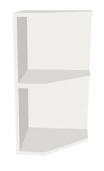 Aufsatz-Abschluss-Eckregal rechts für 2 Ordnerhöhen Serie dataline