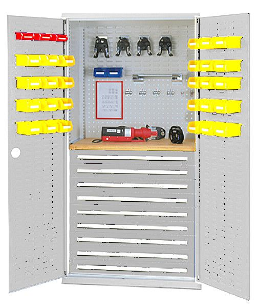 Werkzeugschrank Typ27 lichtgrau