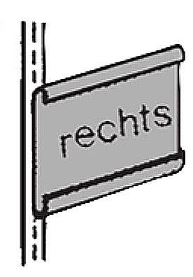 Gangschild rechts lichtgrau Serie K 70-BV