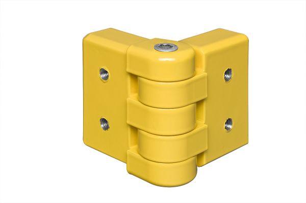 Eckplanken-Gelenk Alu, kunststoffbeschichtet