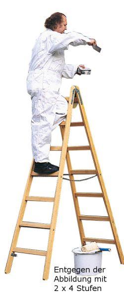 Holz-Sprossen-Stehleiter