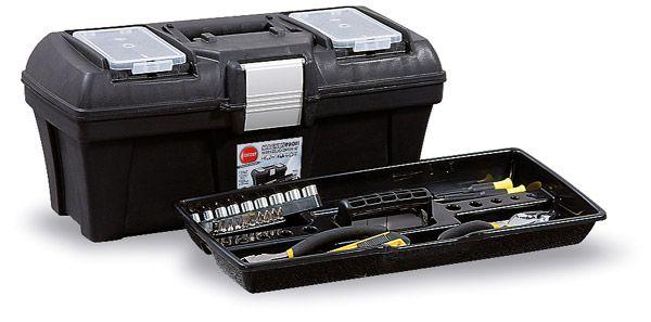 Werkzeugkoffer Magnus Profi Typ 1, schwarz/Alu, B390x185x200mm