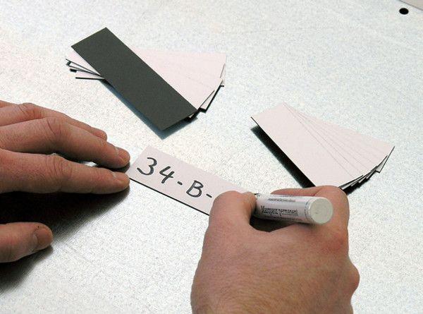 Rolle Magnetschilder für Regale S25/40