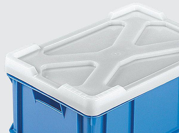 Deckel, weiß, für Stapelkästen 372x275x170mm