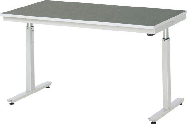 Werktisch mit Linoleum-/Universal-Platte, Serie adlatus 300