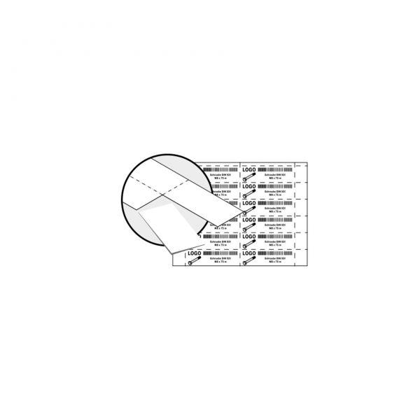 Etikettenbögen für Sichtlagerkästen, VE = 25 DIN A4-Blätter