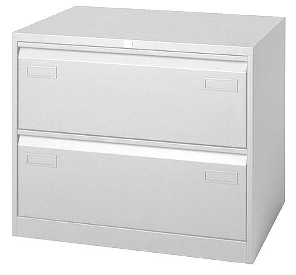 Stahl-Hängeregistratur-Schrank mit 2 zweibahnigen Schubladen