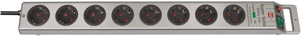 brennenstuhl 8-fach Steckdosenleiste mit Überspannungs/Blitzschutz, Kabel 2,5 m, Länge 630 mm