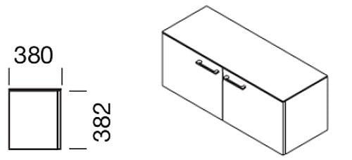 Hänge-Flügeltürenschrank mit Griffen für Modul-Wandsystem, Collection Multiwa