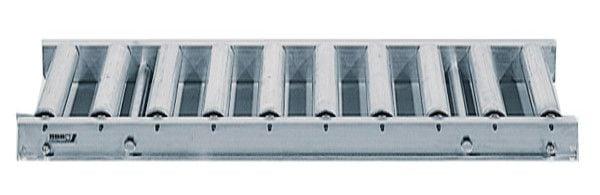 Rollenbahn mit Stahlrollen, 1000mm breit, 100er Teilung