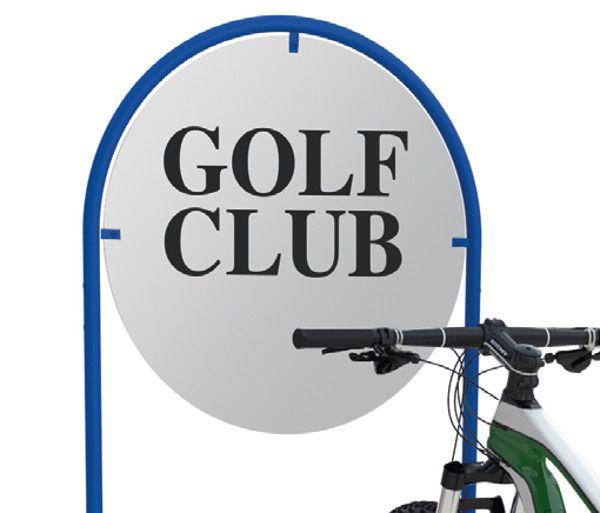 Digitaldruck für Werbe-Fahrradständer Serie RW