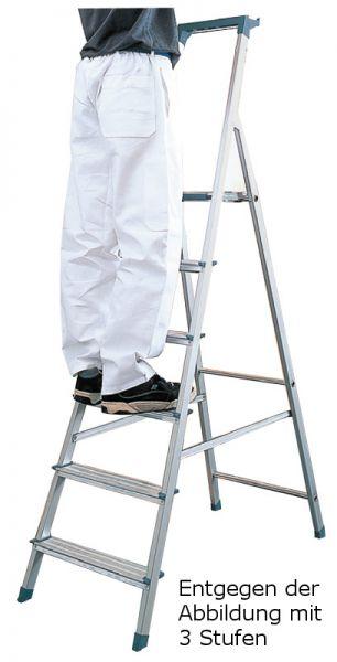 ALU-Stufen-Stehleiter mit Ablageschale