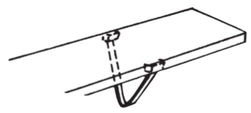 Klemmbügel verchromt Serie K 70-BV