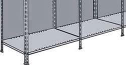 Rückwand für Regal-Schraubsystem lichtgrau