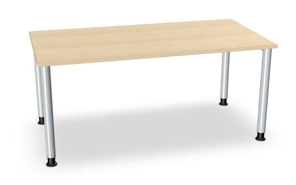 Schreibtisch, Rundbeine alufarbig, Serie dataline-RS