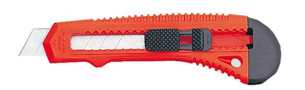 Profi-Cutter aus Kunststoff, mit Aufhängeloch und Abbrechvorrichtung, 18mm Klinge