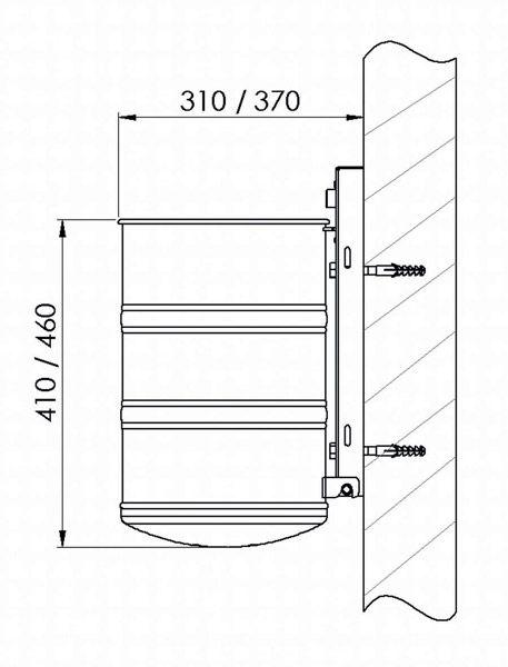 Wandbefestigungs-Set ( Schrauben, Dübel, UScheiben und Distanzstücke )