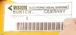 VE = 10 Bogen Papier-Etiketten perforiert