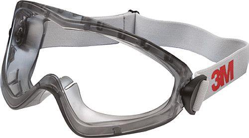 3M Schutzbrille Vollsichtschutz, Kopfband, Scheibentönung/Gestellfarbe klar/grau