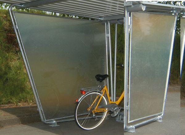 Paar Polyester-Seitenwände für Überdachung Serie Siegen