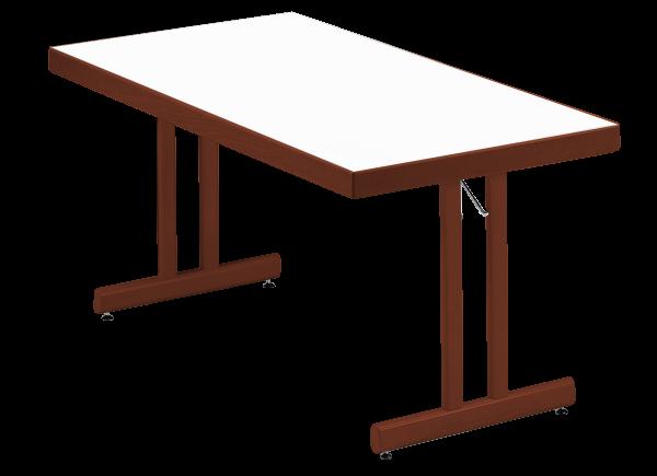 Klapptisch HM 85 mit Massivholzkante Ovalstollen