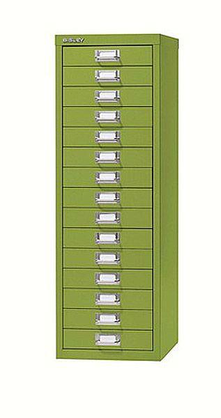 Schubladenschrank mit 15 Schubladen, B279 x H857 x T380 mm, Serie basis
