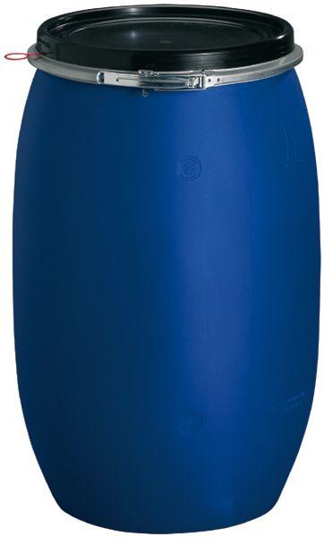 Rundfaß mit Weithalsöffnung für 120 Liter Inhalt, ø 470 x H 800mm, blau