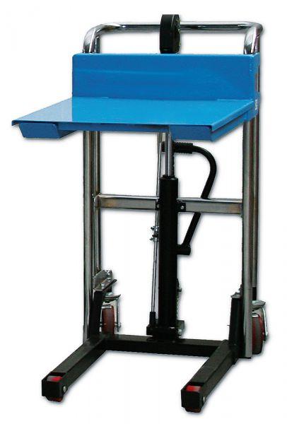 Handhydraulik-Stapler für 0,4 t mit abnehmbarer Plattform, lichtblau