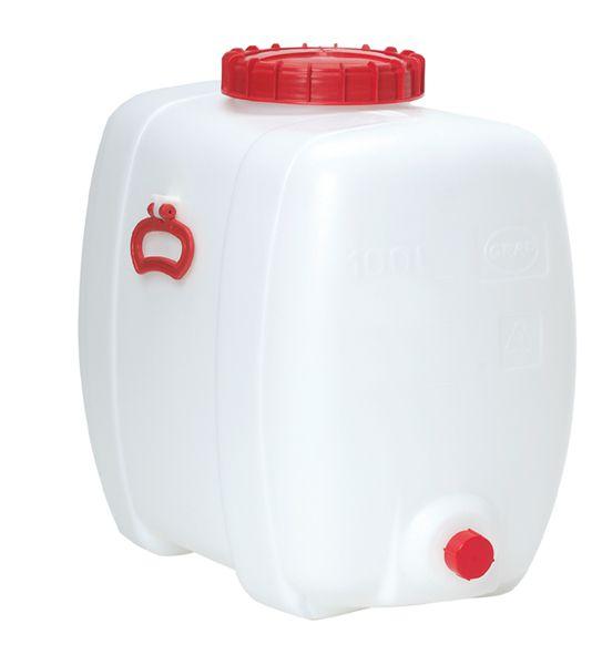 Ovalfaß, 150 Liter, weiß, 740x470x660mm