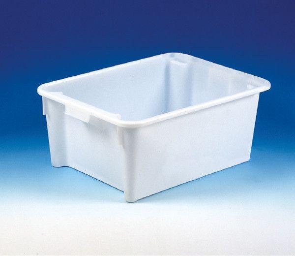 Dreh-Stapelbehälter aus HDPE, natur, B800xT600xH330mm, 110L