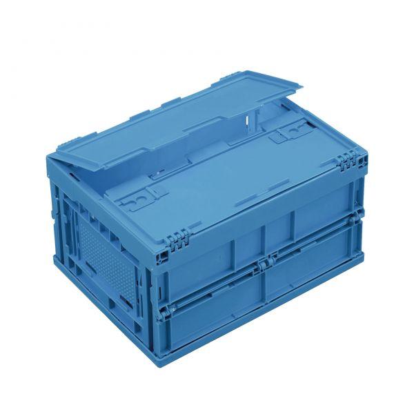 Mehrweg-Faltboxen MFB mit anscharniertem, zweiteiligem Klappdeckel