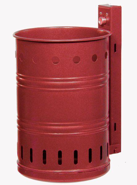 Stahlblech-Abfallbehälter, Lochwand