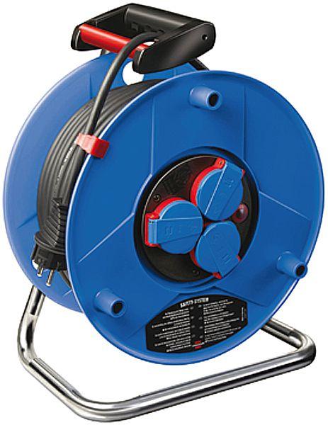 brennenstuhl Industrie-Kabeltrommel mit schwarzem Neopren-Kabel, Trommel-ø 240 mm