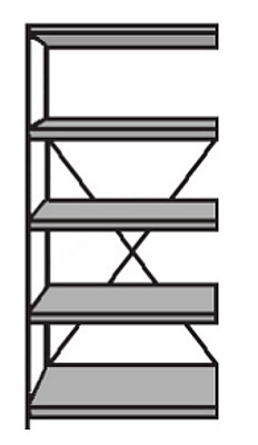 Lager-Regal Bodentragkraft 85 kg Serie S25-STD