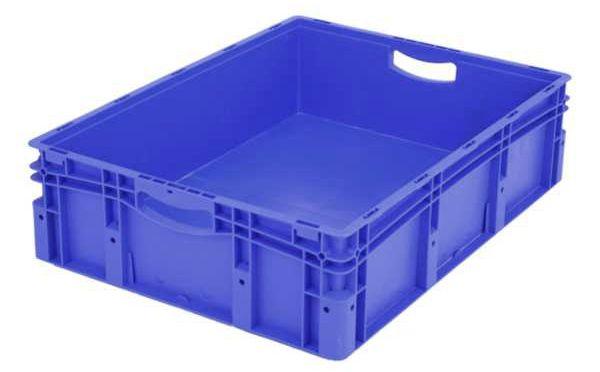 Euro-Stapelbehälter XL, 85 l, mit doppeltem Boden, bis 200 kg belastbar, 600x800x220mm