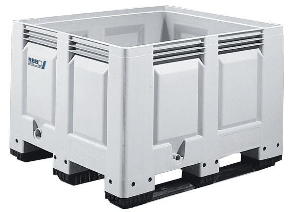 Groß-Stapelbehälter BIG BOX mit 3 Kufen, Inhalt 670L, Farbe: grau, B1200xT1000xH790mm