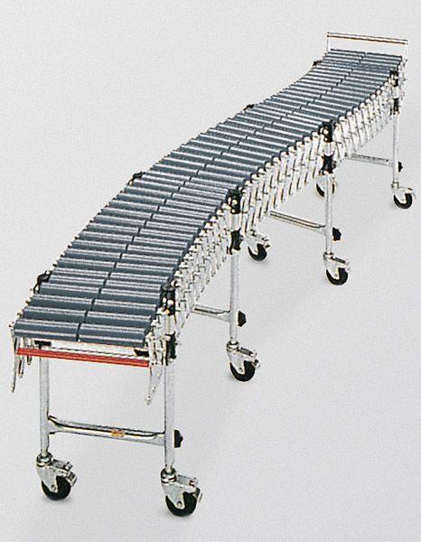 Scheren-Rollenbahn 400mm Breite, ausziehbar, Stahlrollen