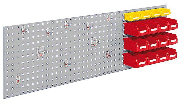 Einsteigerset Typ 2, 1 Kombi-Platte, 16 Sichtlagerkästen, 1 Werkzeughalter-Sortiment