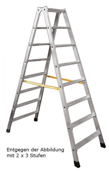 Industrie-Stufen-Stehleiter beidseitig begehbar