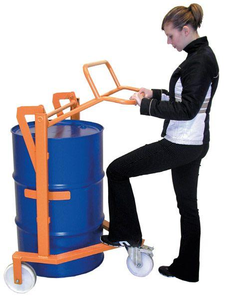 Fasshandcar, Tragkraft 250 kg, NylonBereifung, gelborange