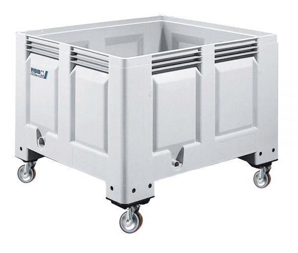 Groß-Stapelbehälter BIG BOX mit 4 Füßen, Inhalt 670L, Farbe: grau, B1200xT1000xH760mm