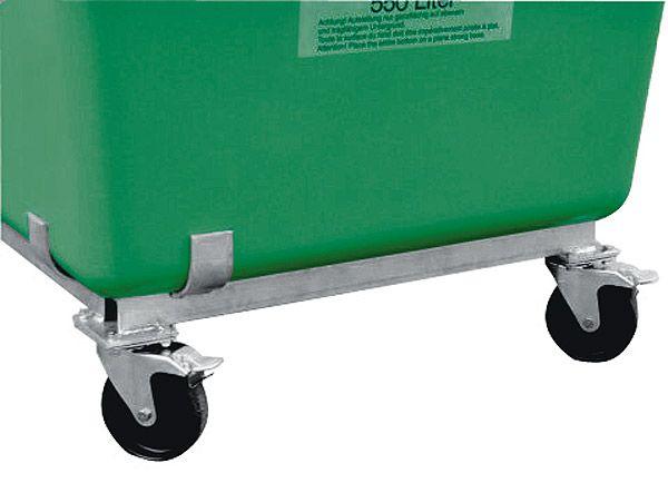 Lenkrollengestell für GFK-Behälter hoch, 200 Liter Inhalt