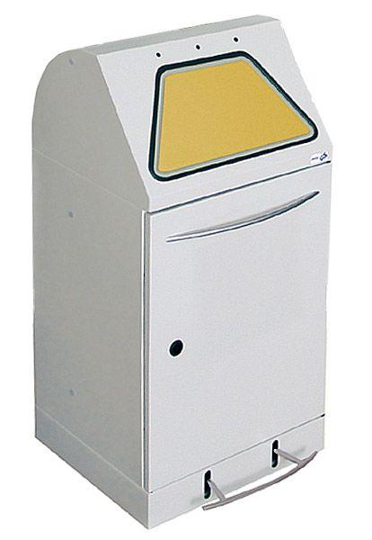 Wertstoffbehälter modul, mit Abfallsackhalter, mit Fußbedienung, lichtgrau