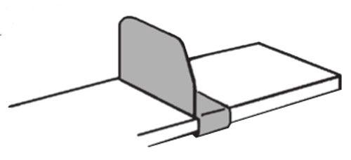 verschiebbarer Fachteiler lichtgrau Serie K 70-BV