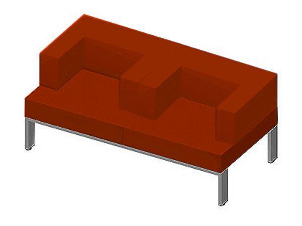 Business-Lounge Zweisitzer mit Rücken/Ecklehnen, Quandos