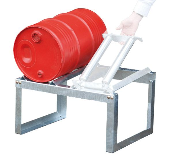 Fassbock, feuerverzinkt, für 2 x 60 Liter-Fässer, B755xT545xH455mm