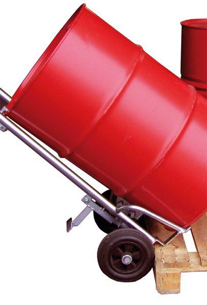 Fasskarre mit Pendelachse, Tragkraft 350 kg, verzinkt